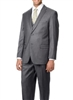 Caravelli 3 piece Vested Solid Grey Suit Modern Fit