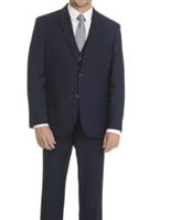 Caravelli 3 piece Vested Solid Navy Suit Modern Fit