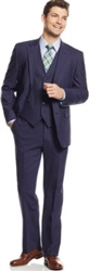 Caravelli  Solid Navy Vested Slim Suit