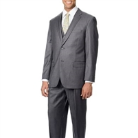 Caravelli 3 Piece Vested Solid Grey Wide Leg Suit Modern Fit
