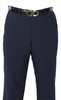 Caravelli Flat Front Super 120 Wool Pants