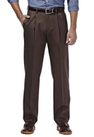 Ralph Lauren - Natural Stretch Solid Dark Brown Wool Pants