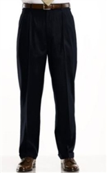 Ralph Lauren - Natural Stretch Solid Black Wool Pants