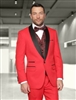 Statement Capri Red Tuxedo Modern Fit