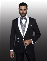Statement Capri Black Tuxedo Modern Fit