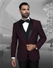 Statement Encore Burgundy Tuxedo Modern Fit