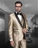 Statement Enzo-7 Champagne Tuxedo Modern Fit