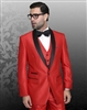 Statement Enzo-7 Red Tuxedo Modern Fit