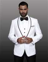 Statement Genova White Tuxedo Modern Fit