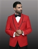 Statement Genova Red Tuxedo Modern Fit