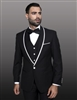 Statement Genova Black Tuxedo Modern Fit