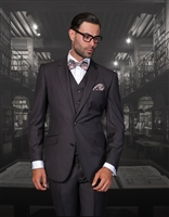 Statement Solid Charcoal Suit Modern Fit