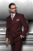 Statement Solid Burgundy Suit Modern Fit