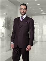 Statement Solid Eggplant Suit Modern Fit