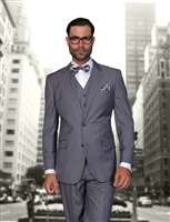 Statement Solid Heather Grey Suit Modern Fit