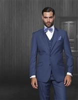 Statement Solid Indigo Suit Modern Fit