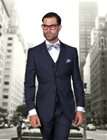 Statement Solid Navy Suit Modern Fit