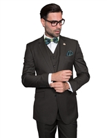 Statement Solid Olive Suit Modern Fit