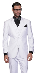 Statement Solid White Suit Modern Fit