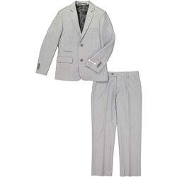 Boy's American Exchange Light Grey Suit