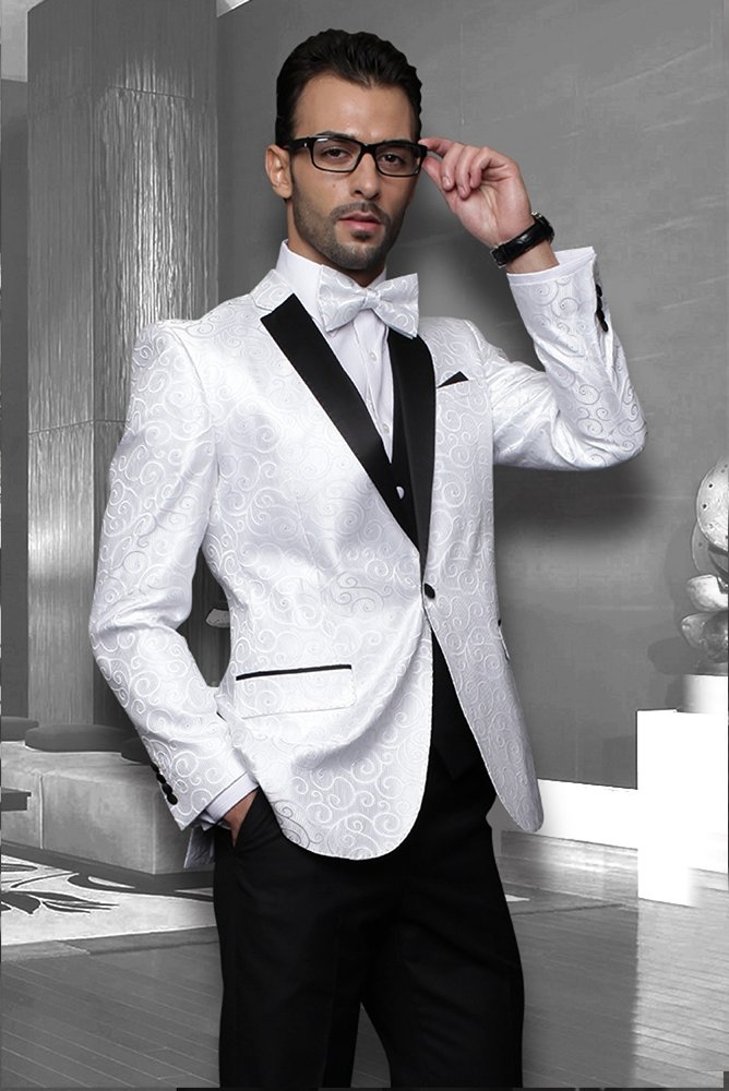 Bellagio Vested White Tuxedo