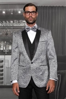Statement Bellagio Vested Silver Tuxedo