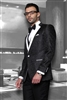 Statement Bellagio Vested Black Tuxedo