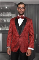 Statement Bellagio Vested Red Tuxedo