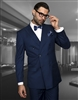 Big & Tall Statement Solid Indigo Suit Pleated Modern Fit