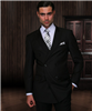 Big & Tall Statement Solid Black Double Breasted Suit Modern Fit