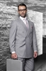 Big & Tall Statement Solid Grey Double Breasted Suit Modern Fit