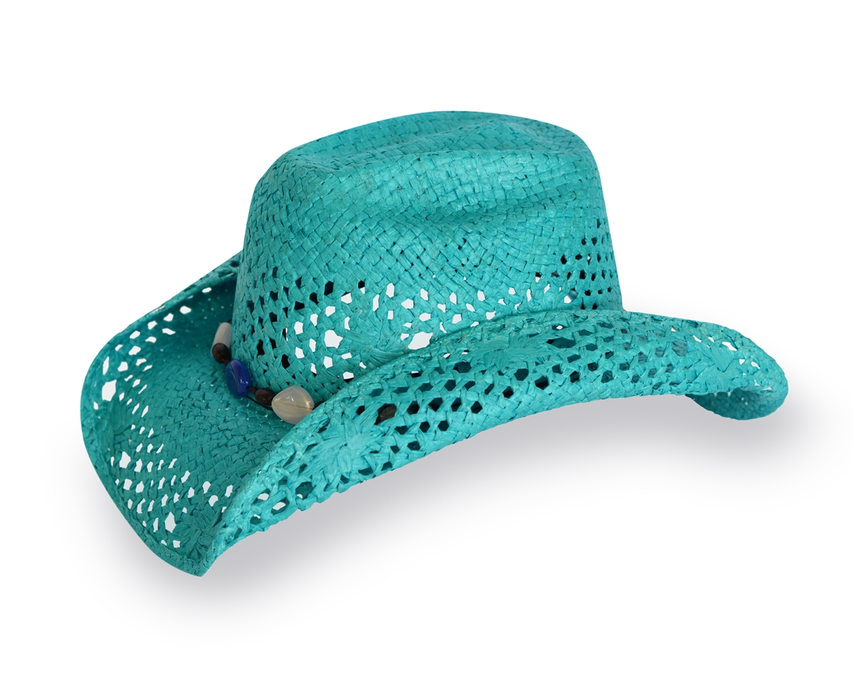 Turquoise Cowgirl Hat  9c9d49b4522