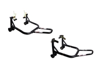 T-Rex Racing Black Front and Rear Motorcycle Stands V Universal (F4, F4i, YZF600R, non-spooled)