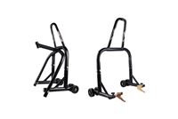 Black Front & Rear & Triple Tree Motorcycle Stand V