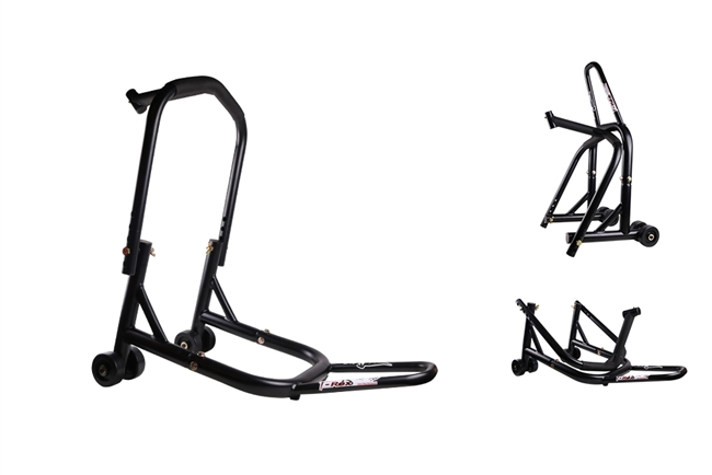 Black Front & Triple Tree Motorcycle Stand V