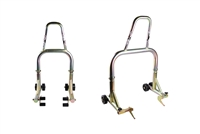 Gold Galvanized Front and Rear Motorcycle Stands V