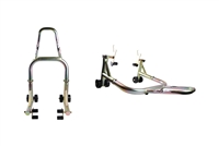 T-Rex Racing Gold Galvanized Front and Rear Motorcycle Stands V Universal (F4, F4i, YZF600R, non-spooled)