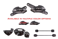 T-Rex Racing Triumph Street Triple 675 / Street Triple No Cut Frame Axle Sliders Case Covers