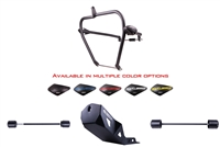 T-Rex Racing 1996 - 2020 Suzuki DR650 / DR650S / DR650SE Engine Guard Crash Cage Front & Rear Axle Sliders Skid Plate Combo
