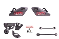T-Rex Racing 2015 - 2019 BMW S1000XR No Cut Frame Front & Rear Axle Sliders Case Covers Spools