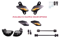 2014 - 2016 KTM 1290 Super Duke / R No Cut Frame Front & Rear Axle Sliders Case Covers Bar Ends