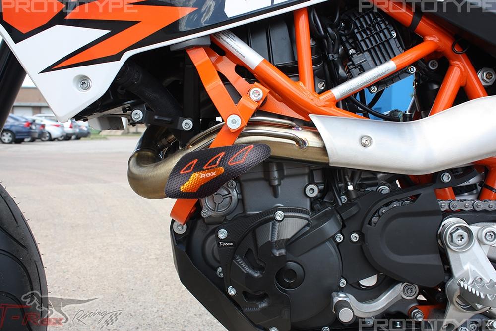KTM 690 Enduro R / SMC R No Cut Frame Front & Rear Axle Sliders Case Covers
