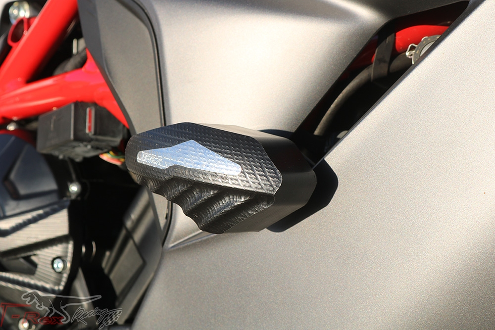 675RC 800 T-Rex Racing 2018-2019 MV Agusta F3 675 800RC No Cut Frame Sliders Aluminum