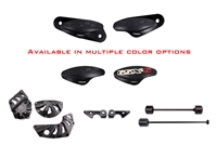 2015 - 2019 Suzuki GSX-S750 No Cut Frame Front & Rear Axle Sliders Case Covers Spools