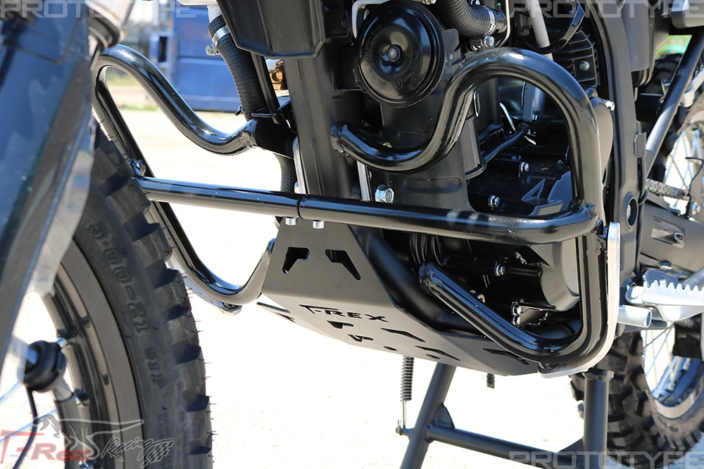 2018 - 2019 Kawasaki KLX250 Engine Guard Crash Cage, Axle Sliders, & Skid  Plate Combo