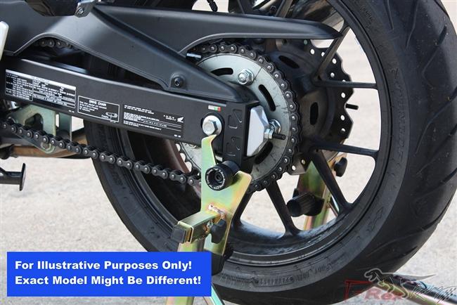 Black for 2001-2006 Honda CBR600F4i Volar Swingarm Spools Sliders