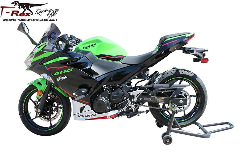 2018 - 2019 Kawasaki Ninja 400 No Cut Frame Sliders w/ aluminum inserts