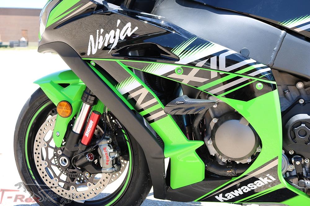 ZZR1400 No Cut Frame Sliders T-Rex Racing 2006-2010 Kawasaki ZX-14