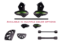 2015 - 2017 Kawasaki Ninja H2 H2R No Cut Frame Front & Rear Axle Sliders Case Covers Spools