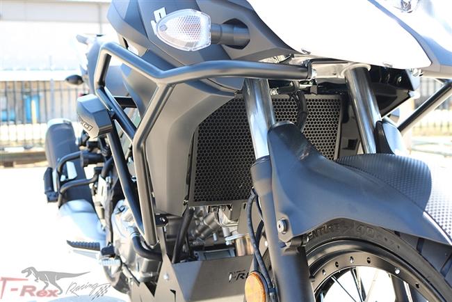 Ajustes for Suzuki Vstrom 250 650 1000 650XT DL650 DL1000 2018 2019 2020 Motor Guardia Parachoques de protecci/ón Bloque Decorativo Color : Black